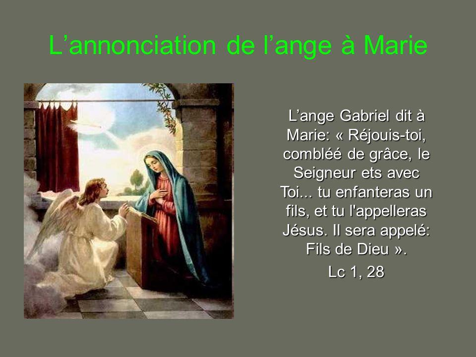 L'annonciation de l'ange à Marie