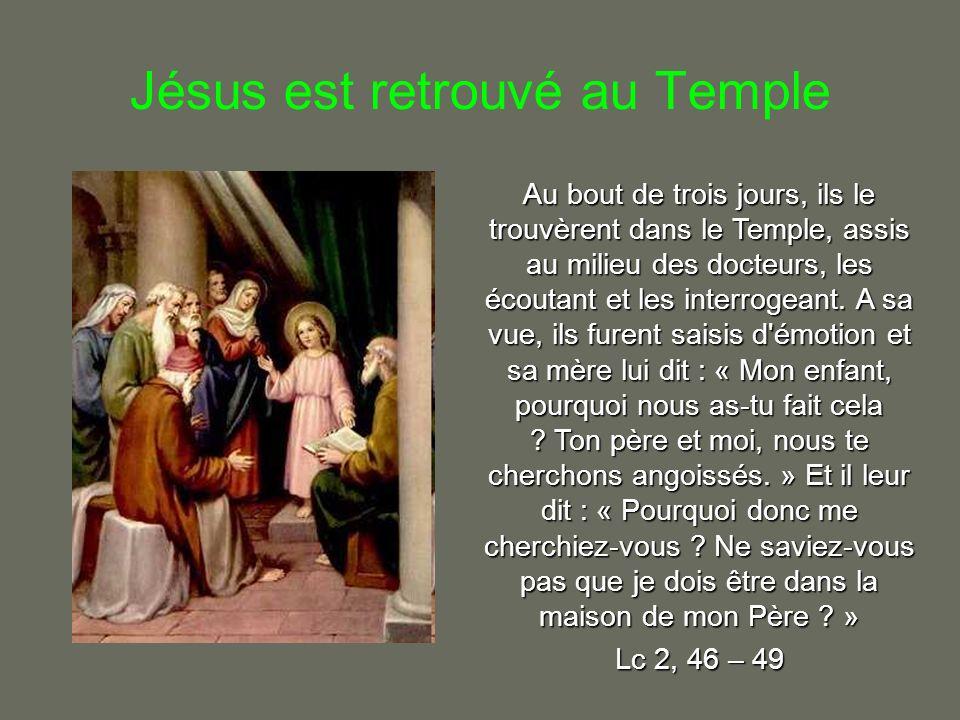 Jésus est retrouvé au Temple