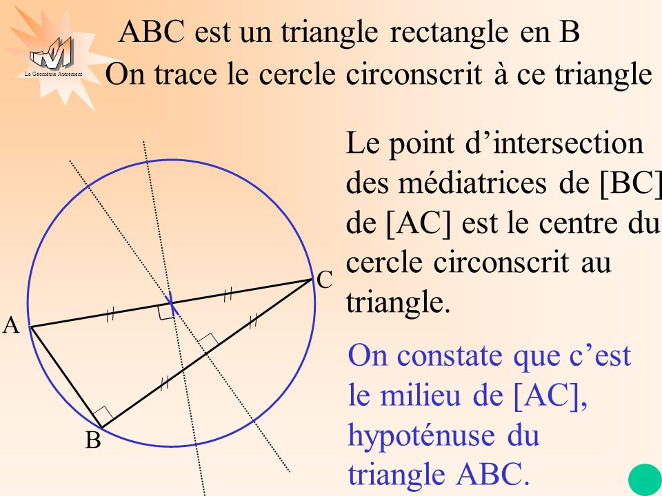 ABC est un triangle rectangle en B
