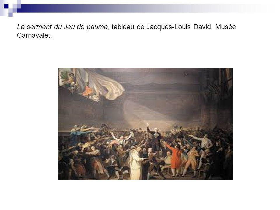 Le serment du Jeu de paume, tableau de Jacques-Louis David