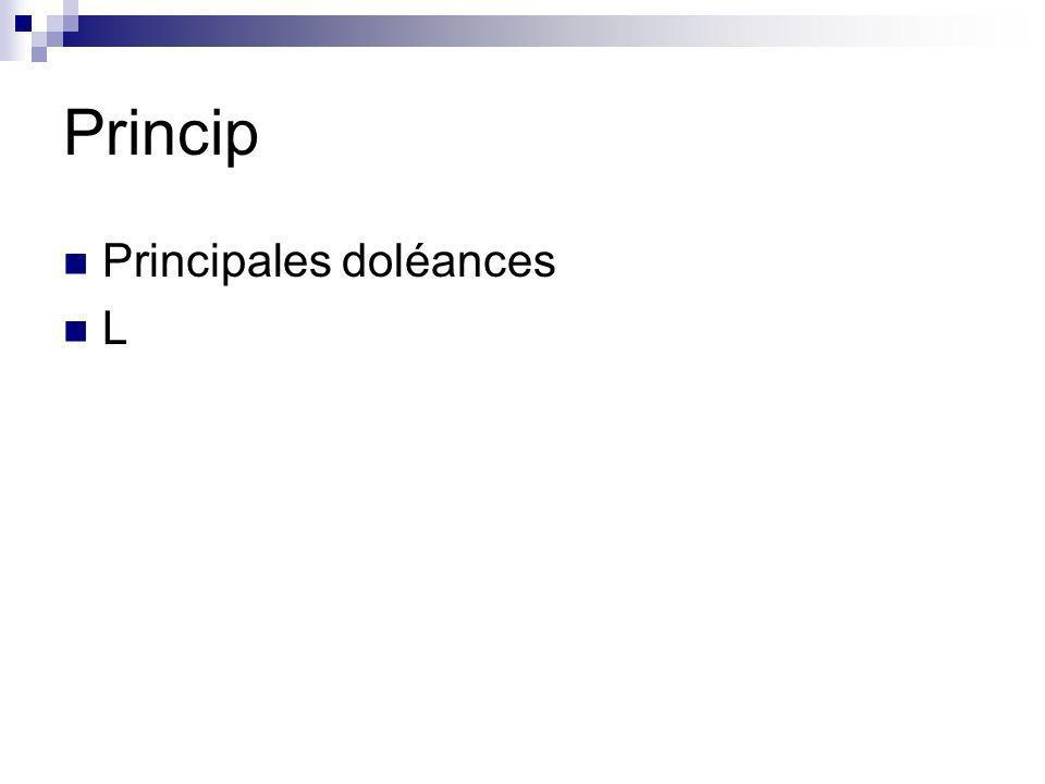 Princip Principales doléances L