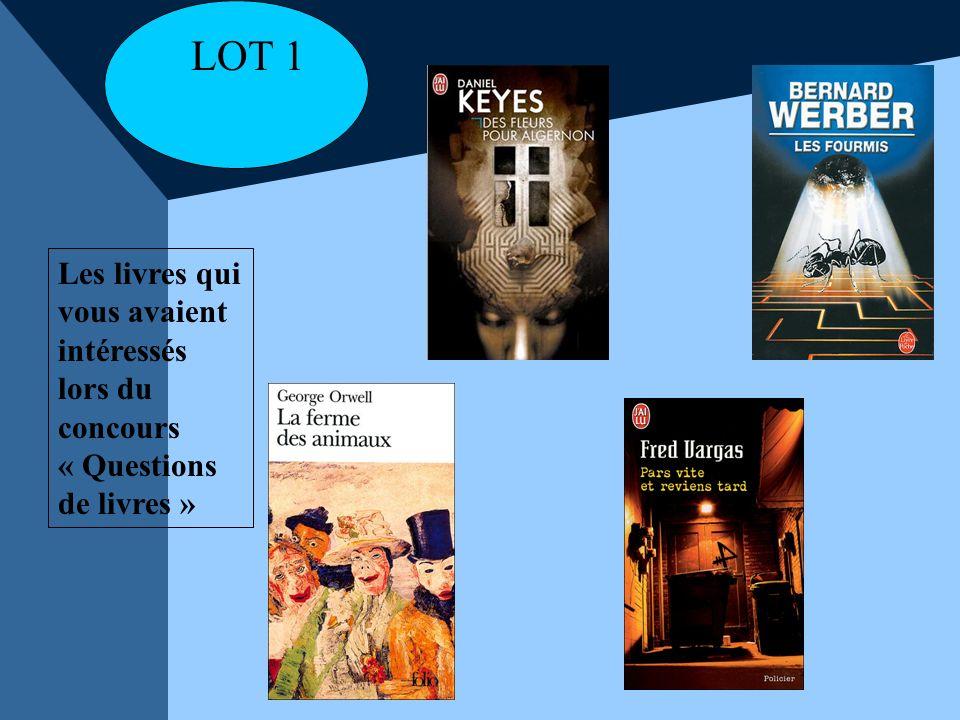 LOT 1 Les livres qui vous avaient intéressés lors du concours « Questions de livres »