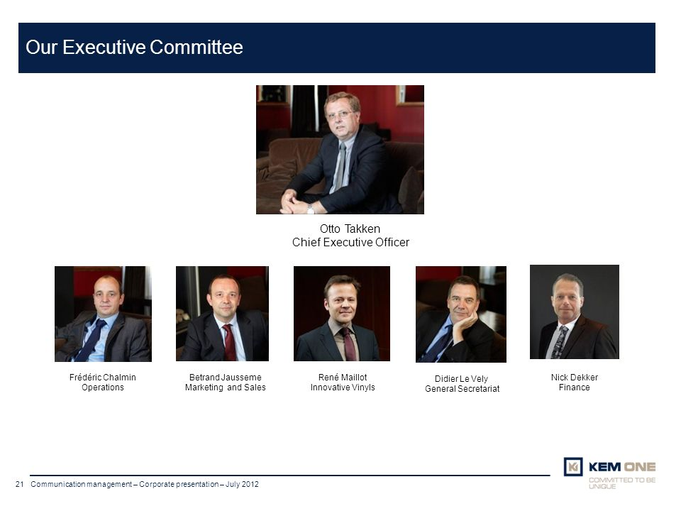 Our Executive Committee