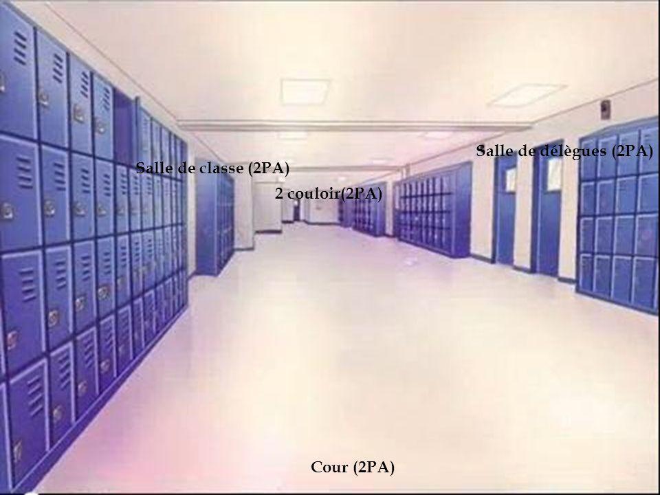 le lycée Salle de délègues (2PA) Salle de classe (2PA) 2 couloir(2PA)