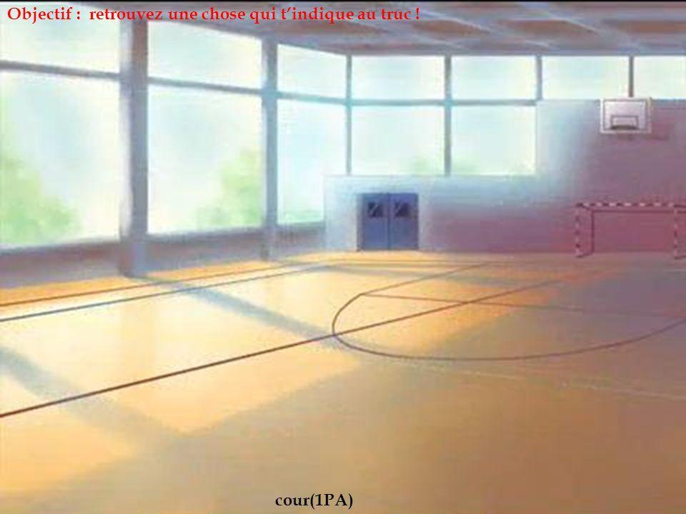 Club basket Objectif : retrouvez une chose qui t'indique au truc !