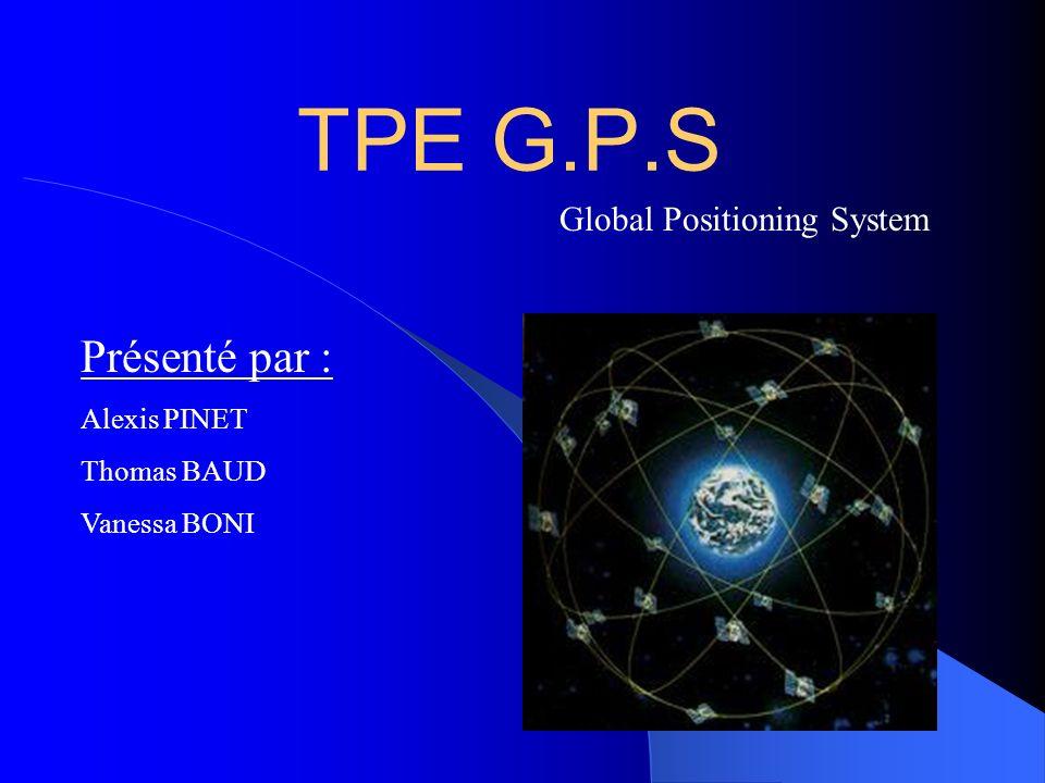 TPE G.P.S Présenté par : Global Positioning System Alexis PINET