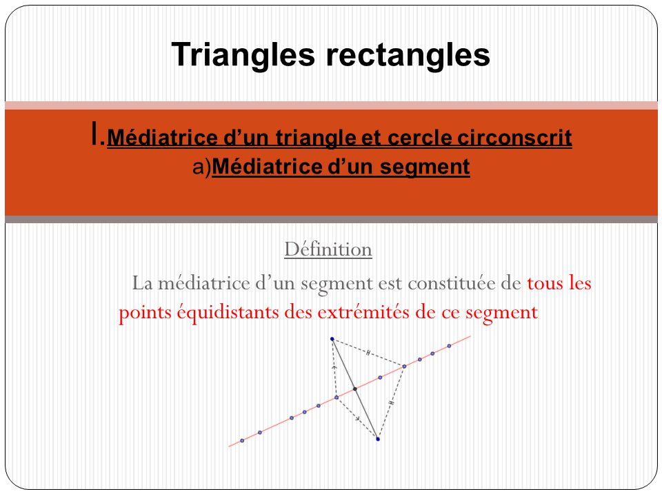 Triangles rectangles I