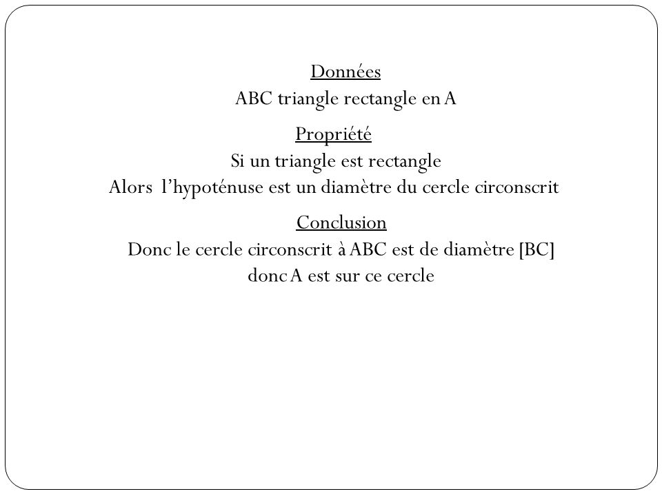 ABC triangle rectangle en A
