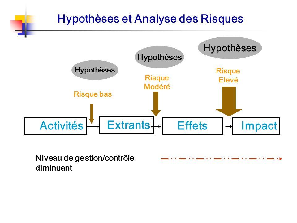 Hypothèses et Analyse des Risques