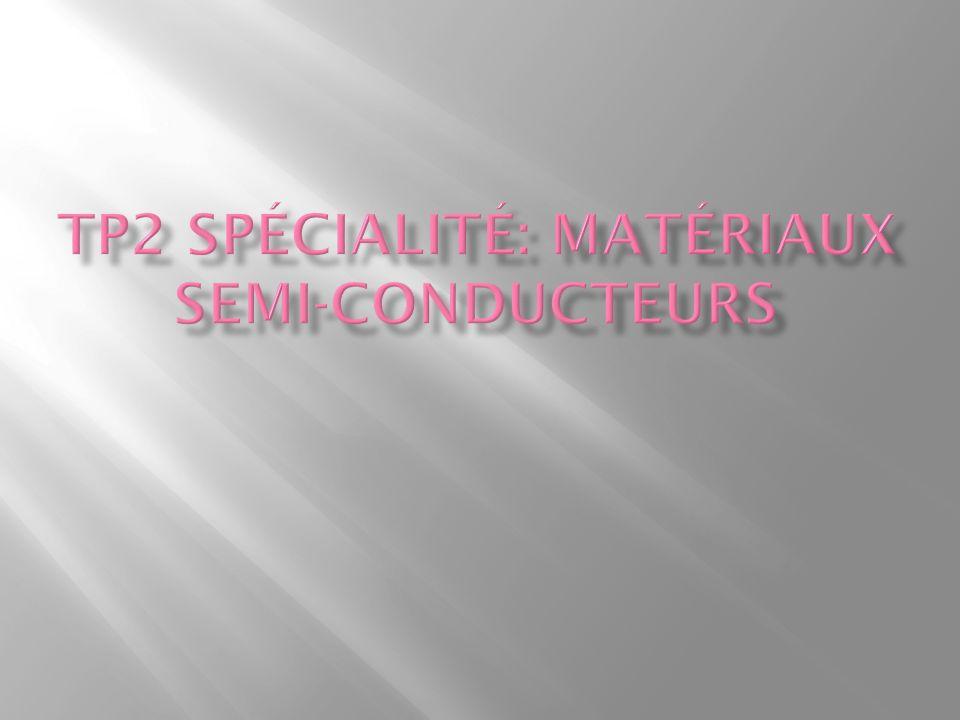 TP2 spécialité: matériaux semi-conducteurs