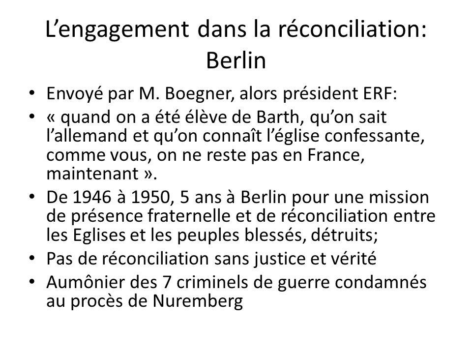 L'engagement dans la réconciliation: Berlin