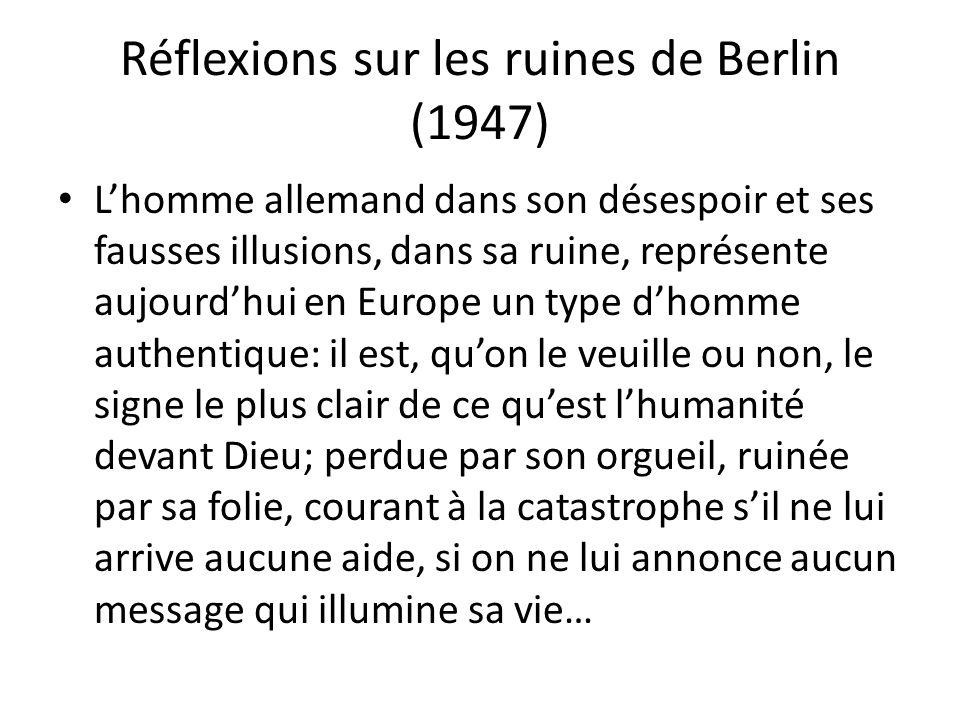 Réflexions sur les ruines de Berlin (1947)