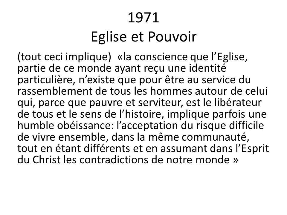 1971 Eglise et Pouvoir
