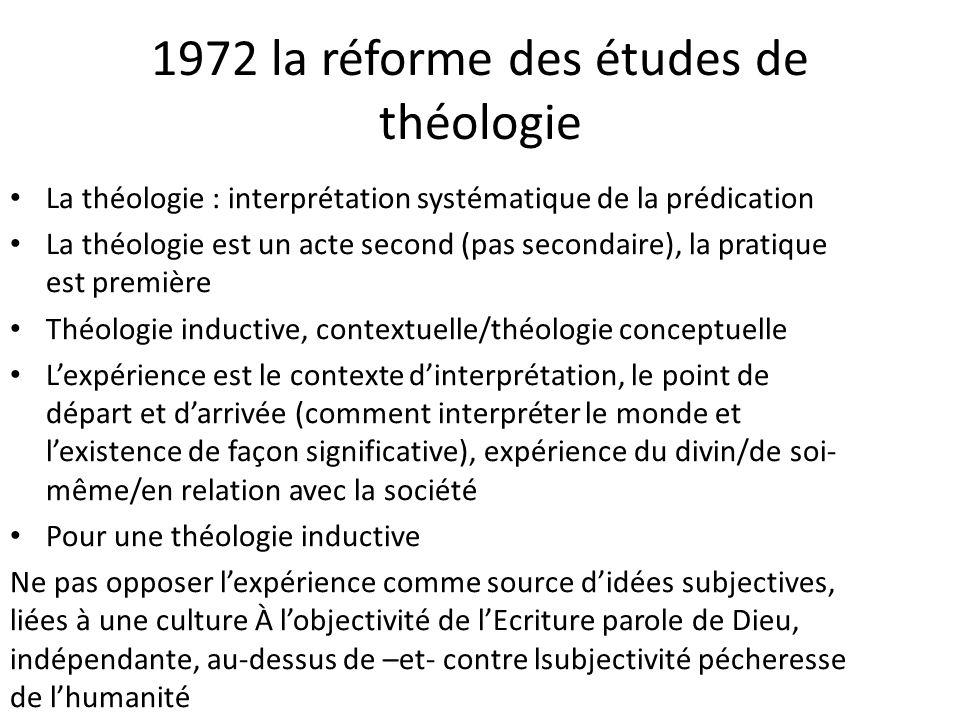 1972 la réforme des études de théologie