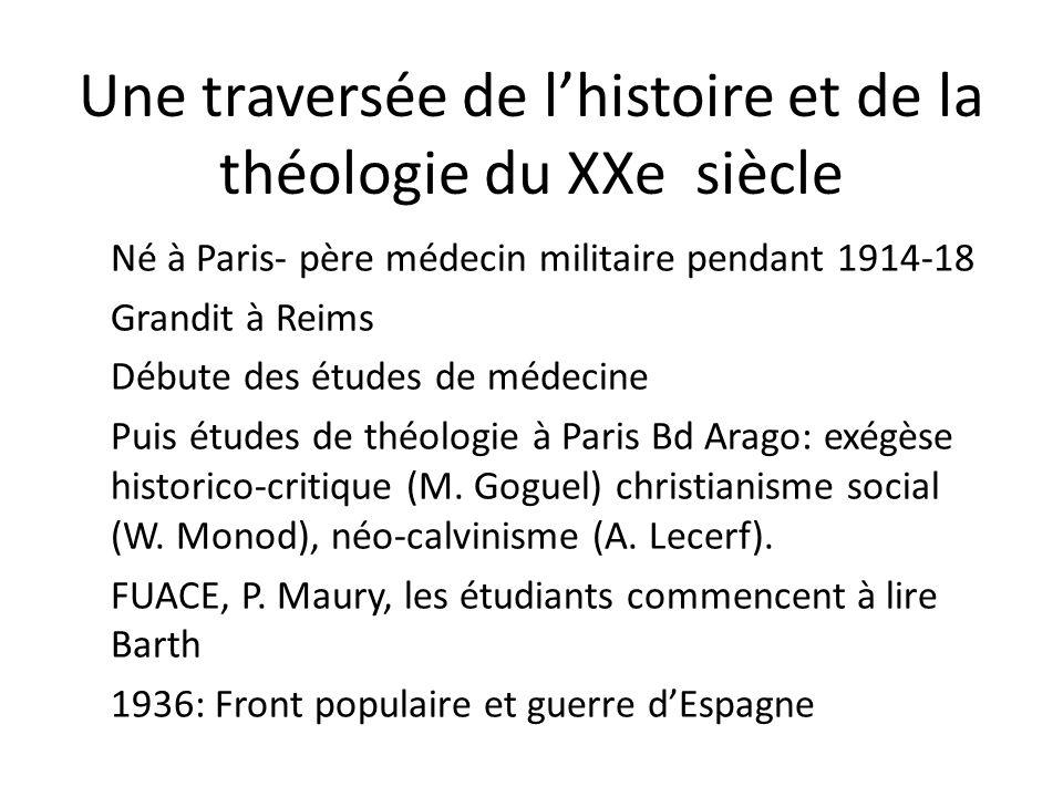 Une traversée de l'histoire et de la théologie du XXe siècle
