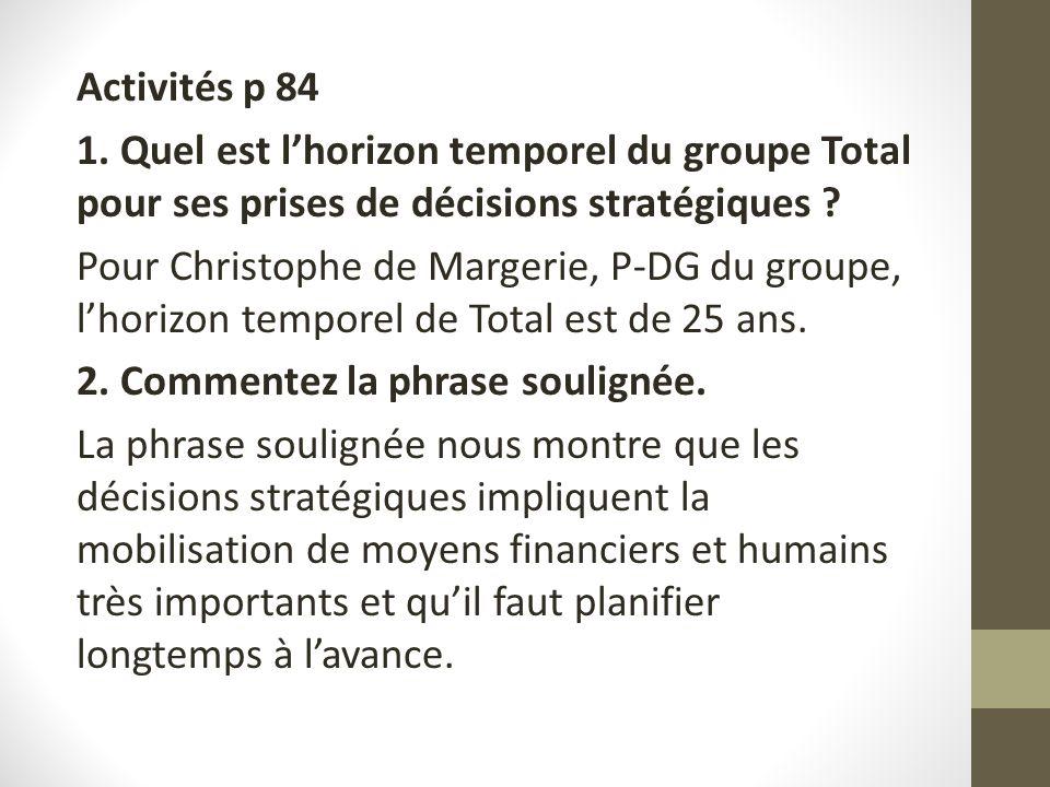 Activités p 84 1.