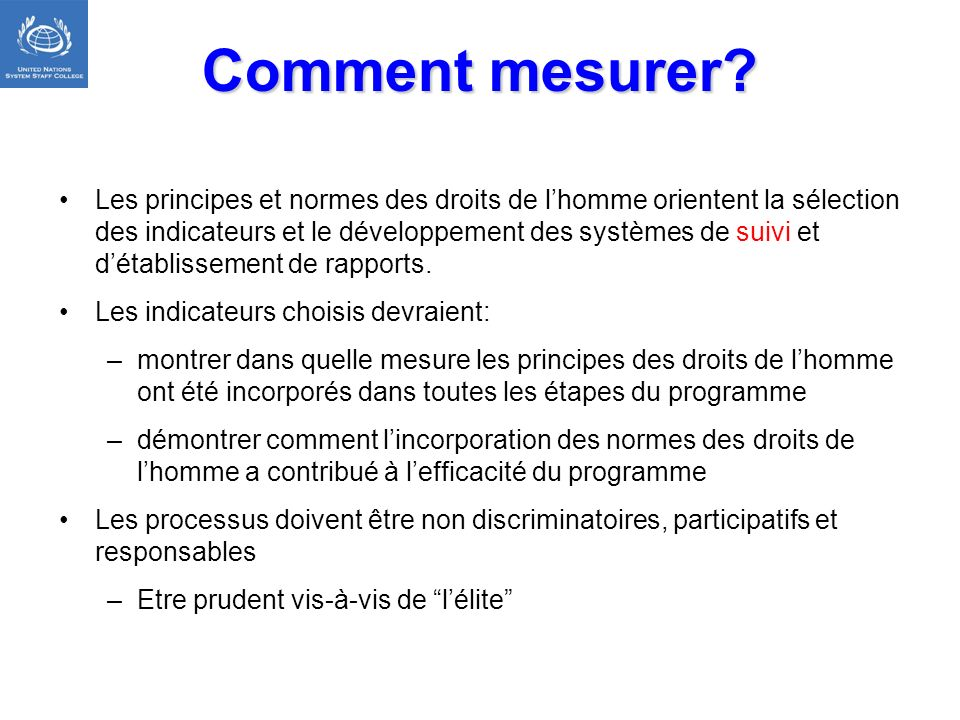 Comment mesurer