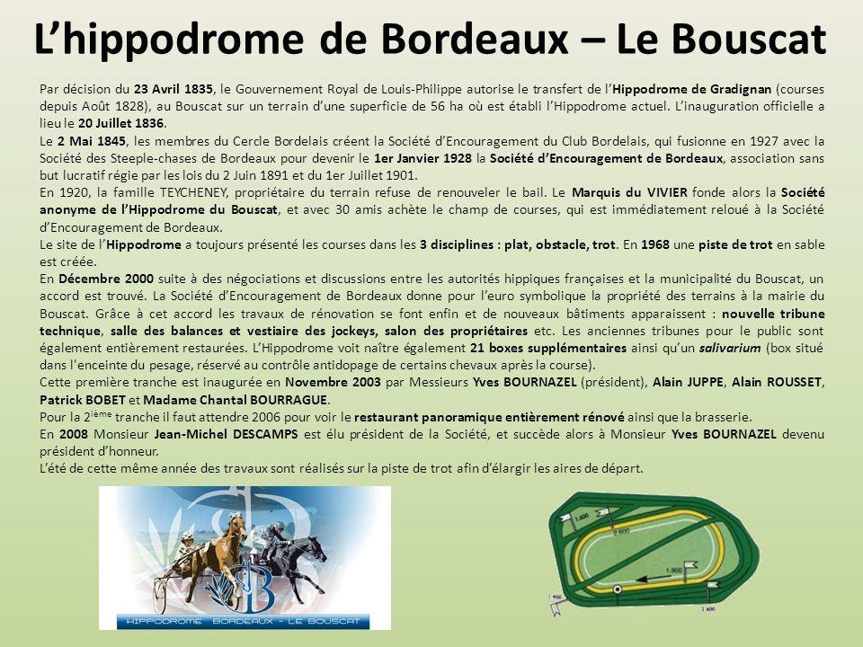 L'hippodrome de Bordeaux – Le Bouscat