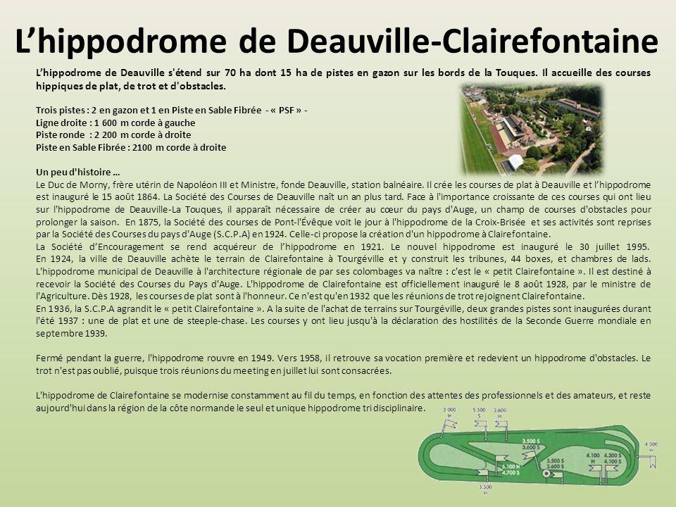 L'hippodrome de Deauville-Clairefontaine