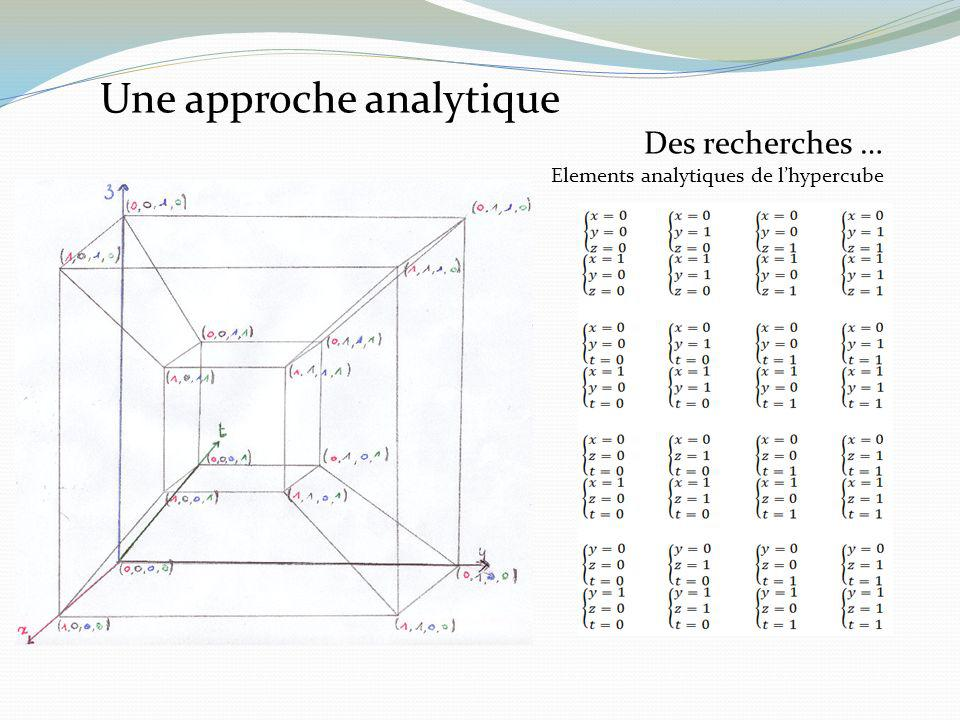 Une approche analytique
