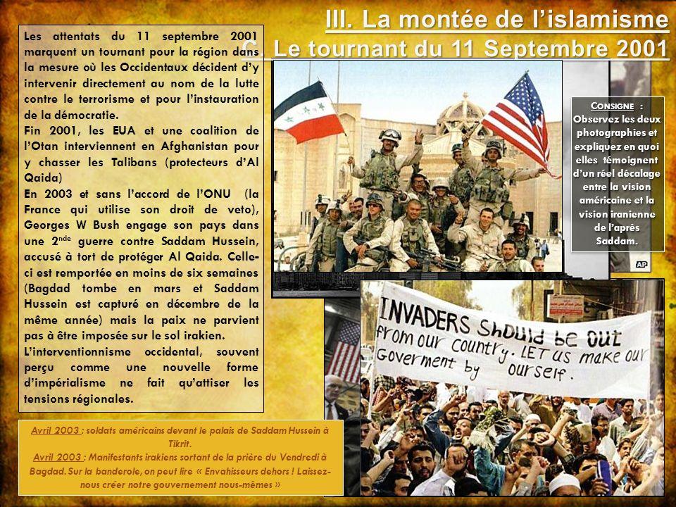 III. La montée de l'islamisme