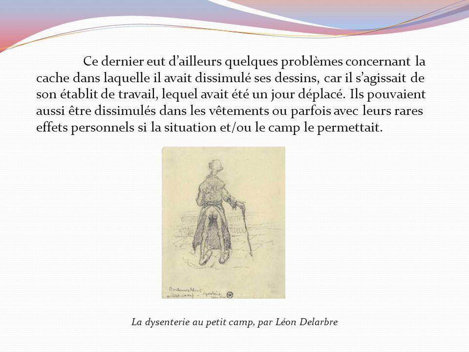 La dysenterie au petit camp, par Léon Delarbre