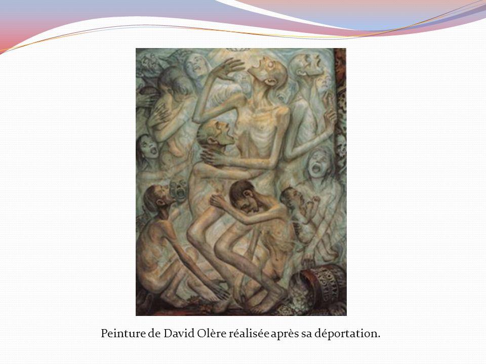 Peinture de David Olère réalisée après sa déportation.