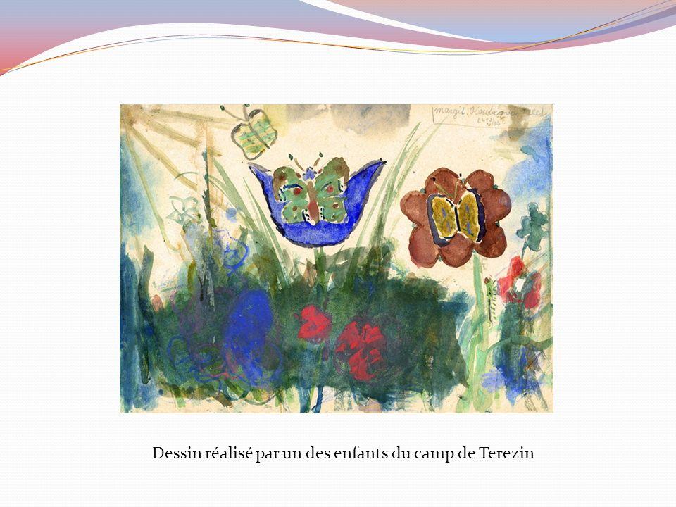 Dessin réalisé par un des enfants du camp de Terezin