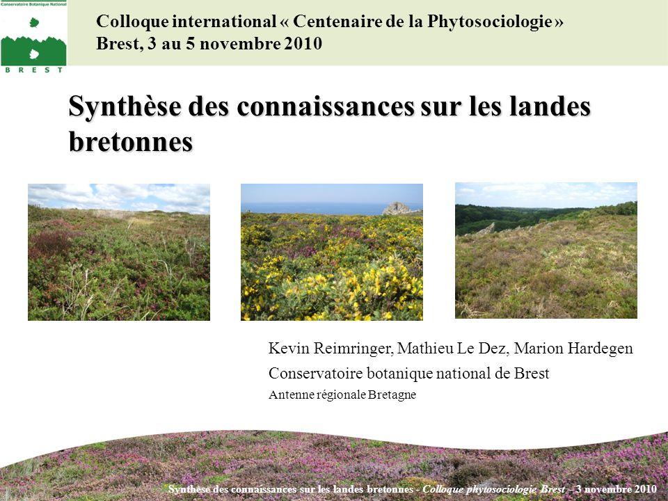 Synthèse des connaissances sur les landes bretonnes