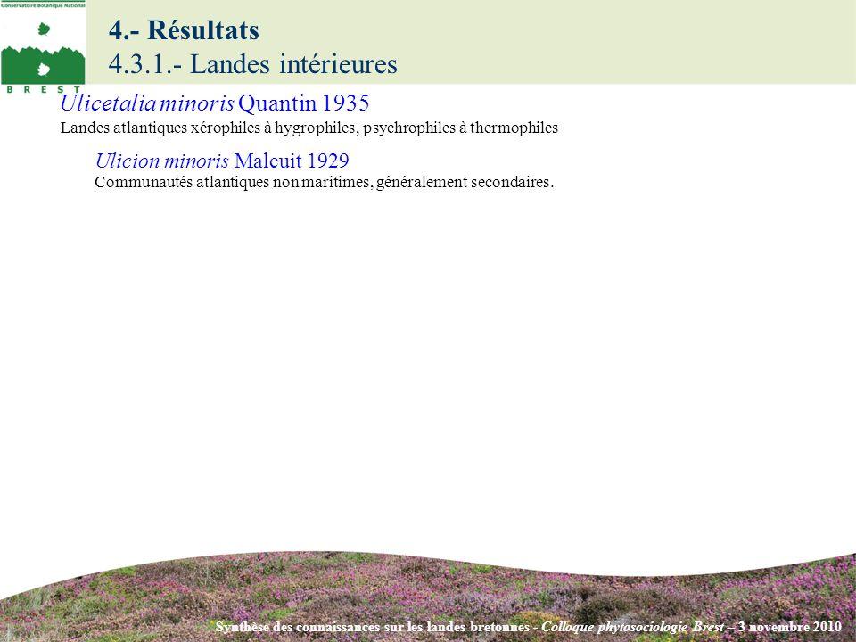 4.- Résultats 4.3.1.- Landes intérieures