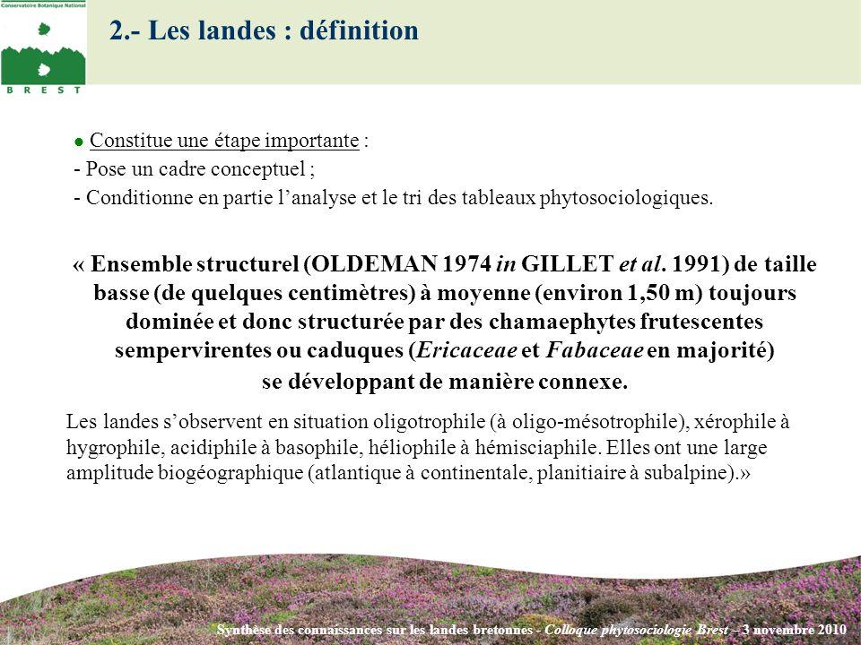 2.- Les landes : définition