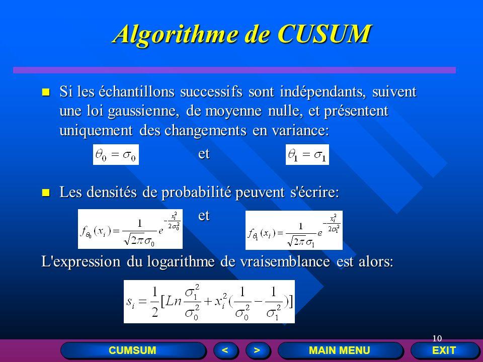 Algorithme de CUSUM