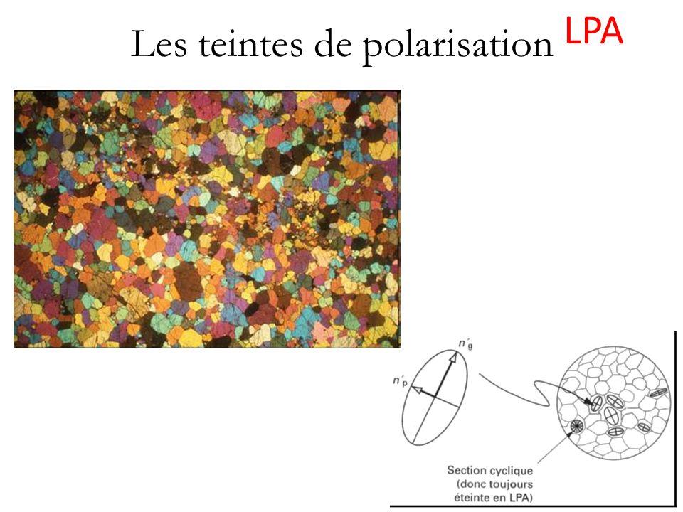 Les teintes de polarisation