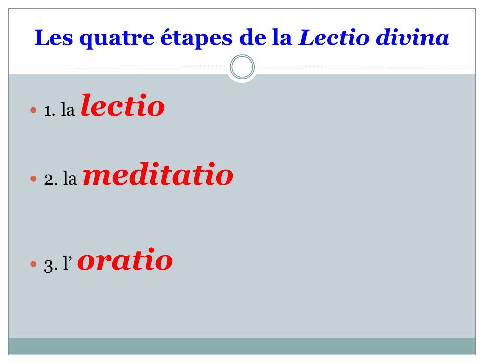 Les quatre étapes de la Lectio divina