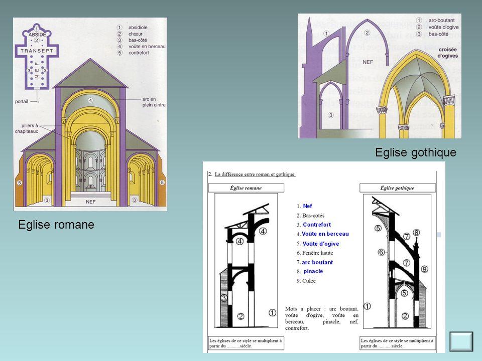 Eglise gothique Eglise romane