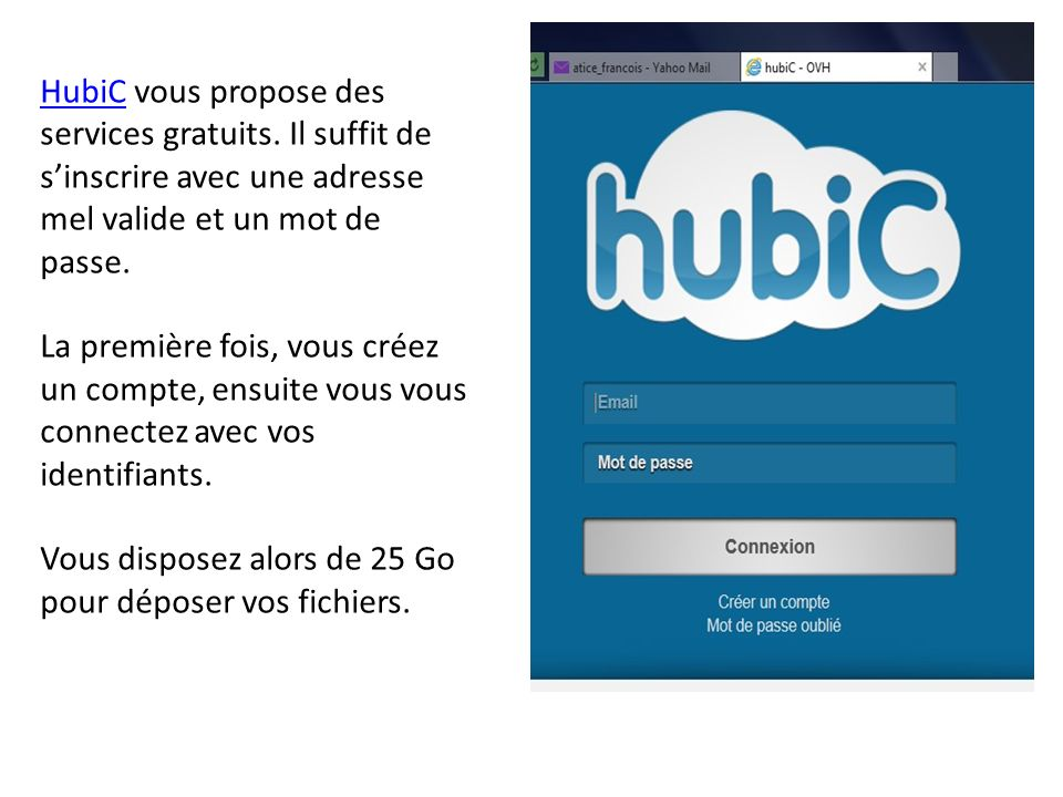 HubiC vous propose des services gratuits