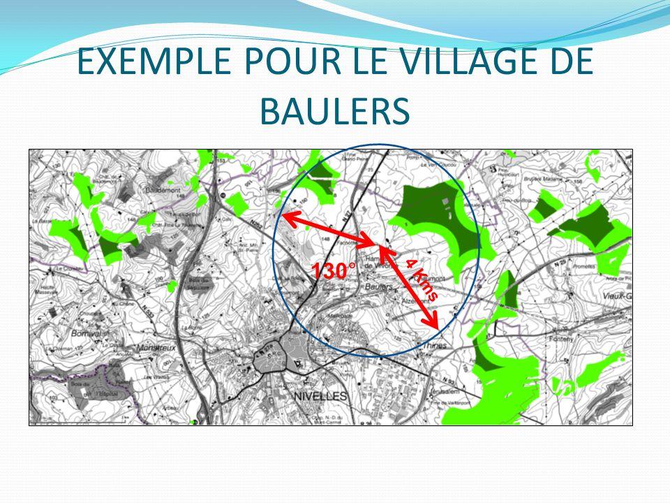EXEMPLE POUR LE VILLAGE DE BAULERS