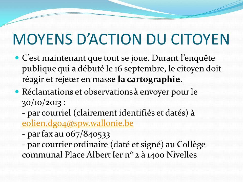 MOYENS D'ACTION DU CITOYEN