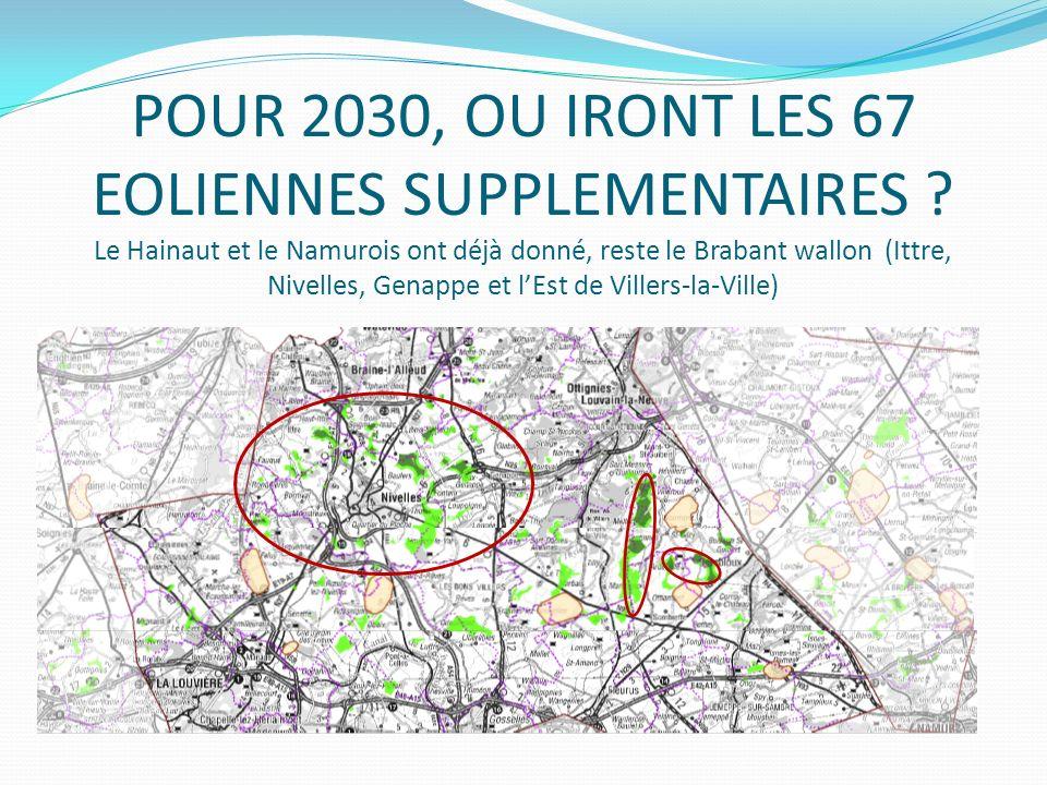 POUR 2030, OU IRONT LES 67 EOLIENNES SUPPLEMENTAIRES