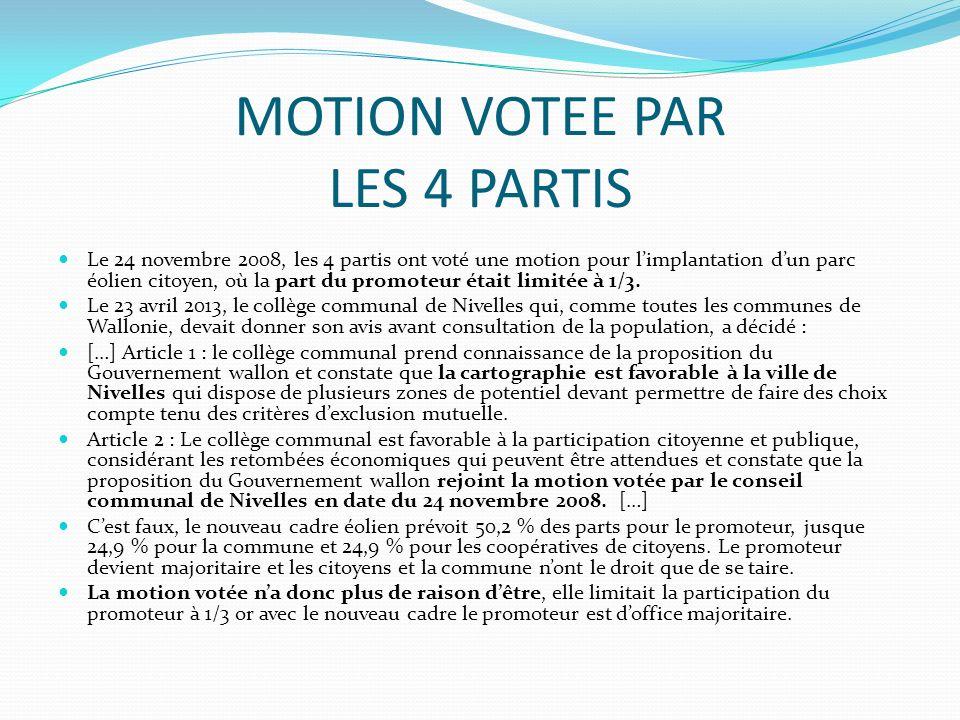 MOTION VOTEE PAR LES 4 PARTIS