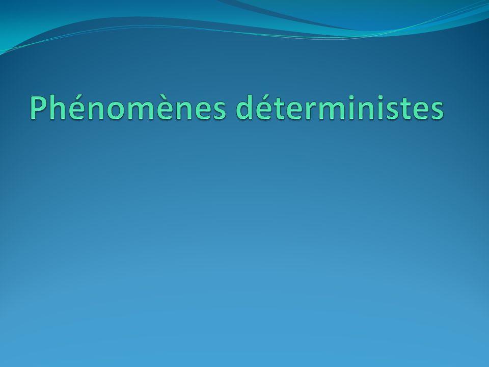 Phénomènes déterministes
