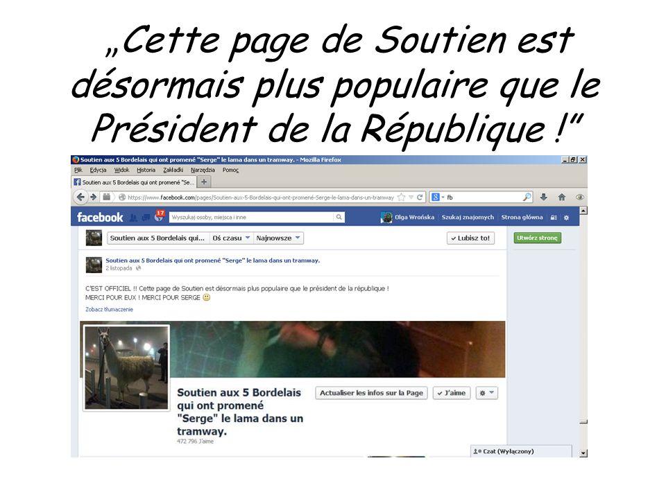 """""""Cette page de Soutien est désormais plus populaire que le Président de la République !"""