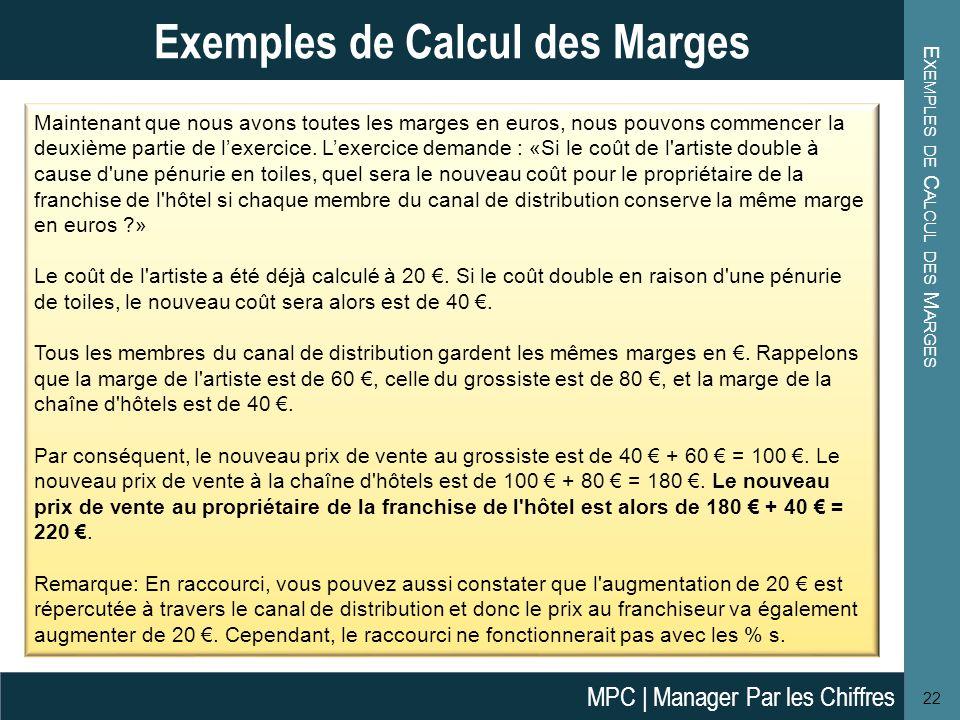 Exemples de Calcul des Marges