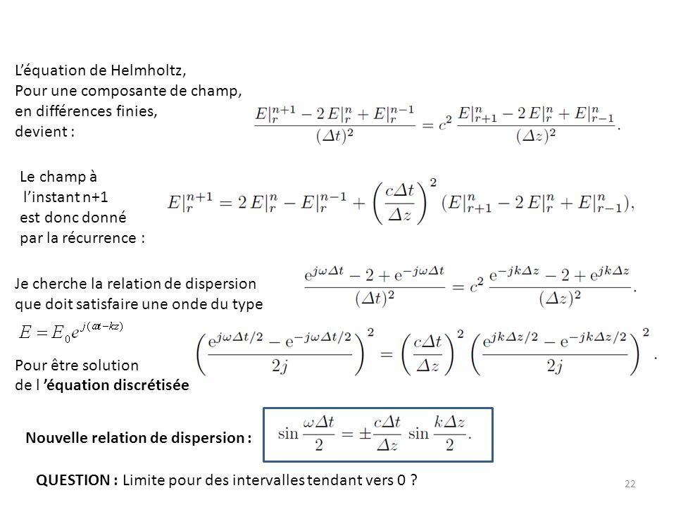 L'équation de Helmholtz,