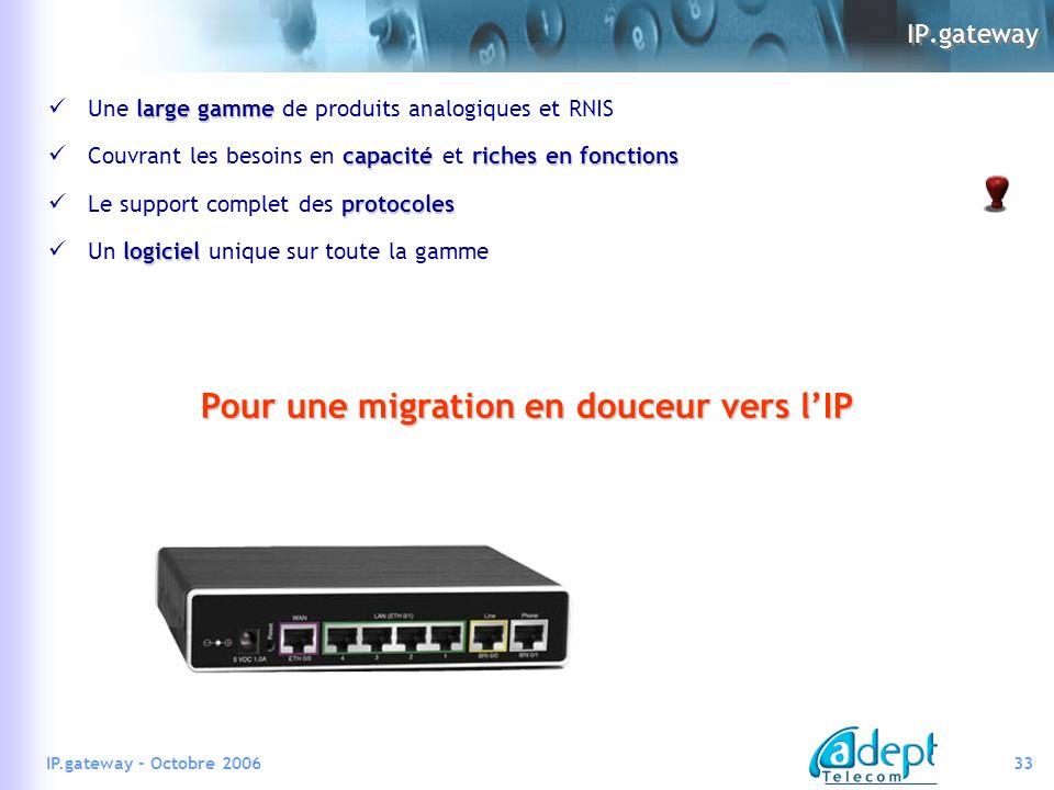 Pour une migration en douceur vers l'IP