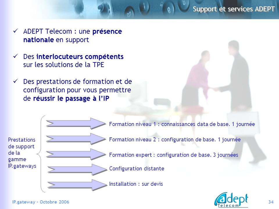 Support et services ADEPT