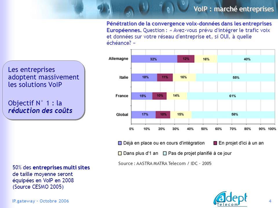 VoIP : marché entreprises