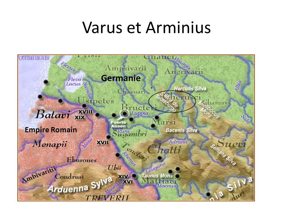 Varus et Arminius Germanie Empire Romain