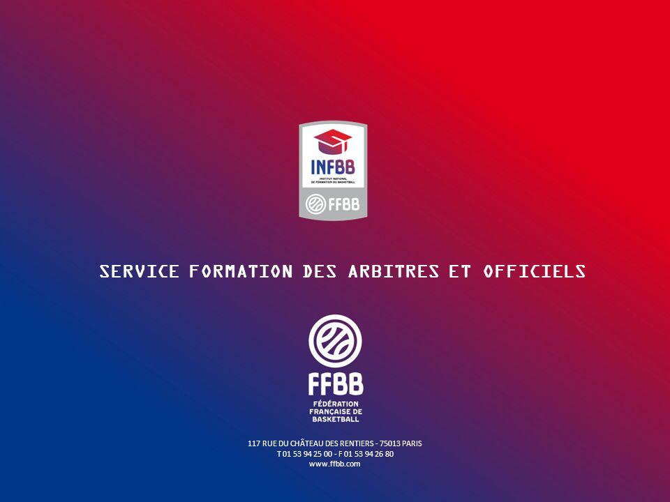 SERVICE FORMATION DES ARBITRES ET OFFICIELS