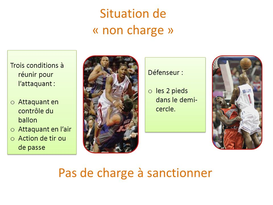 Pas de charge à sanctionner